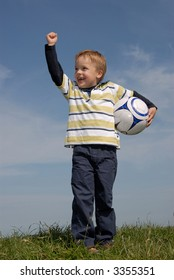 Young boy with a ball