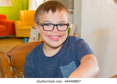 Young Boy With Downs Syndrome