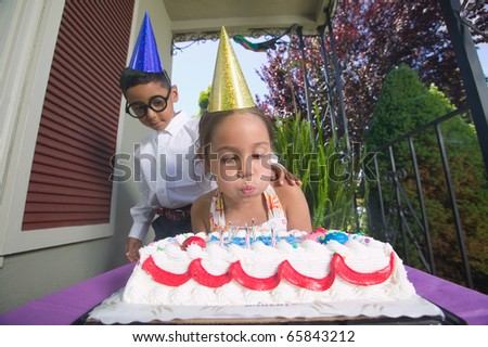Very nude young girls at birthday party