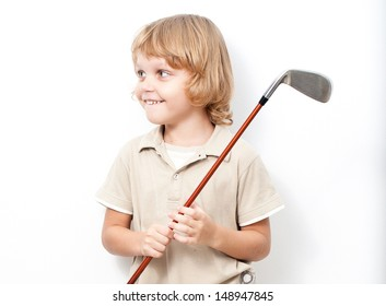 Young boy with  a golf club