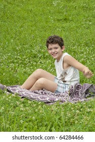 Young boy in the grass