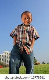 Young Boy Modeling