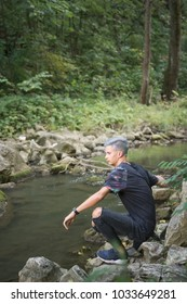 Young boy on a river trip