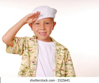 Young boy in a sailor's cap