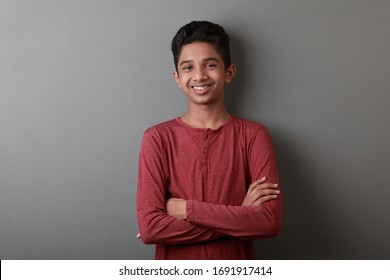 Young boy with a smiling face