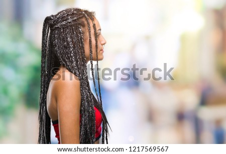 Young Braided Hair African American Pigmentation Stock Photo Edit