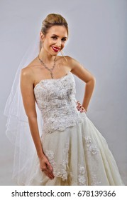 Young bride on her wedding day.