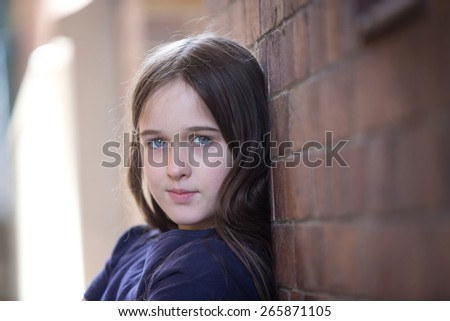 Young brunette teen girl
