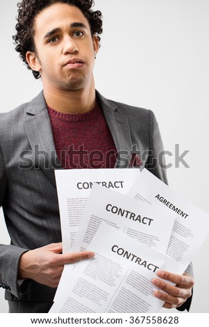 Young Business Man Frustrated By Mess Stock Photo Edit Now