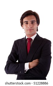 Young Business Man, isolated on white background.