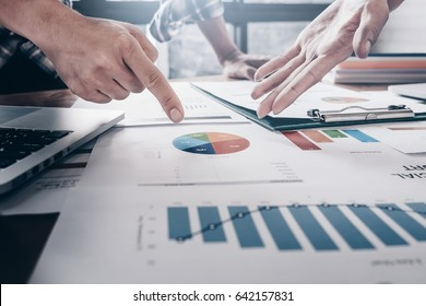 young business man and Partner are proposing business plans to young entrepreneurs to enhance long-term trading performance.
