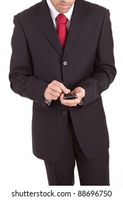 Young business man at phone