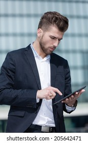 young business man with smart phone