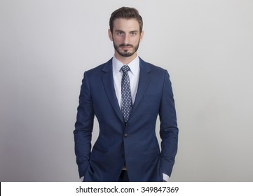 Young Business Man in Suit