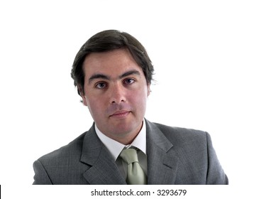Young business man in a white background