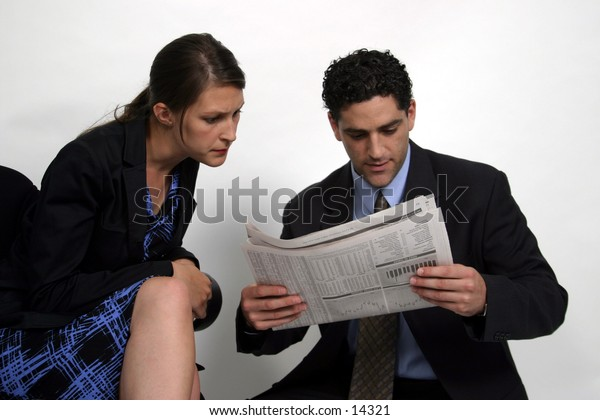 young business man and woman