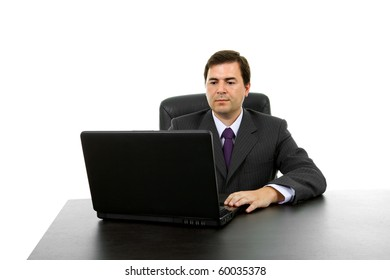 young business man working with is laptop