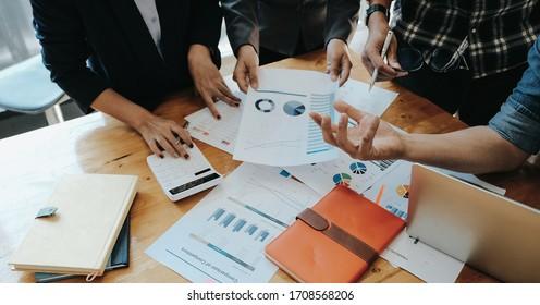 Junge Geschäftsleute Konferenzdiskussion Corporate Concept