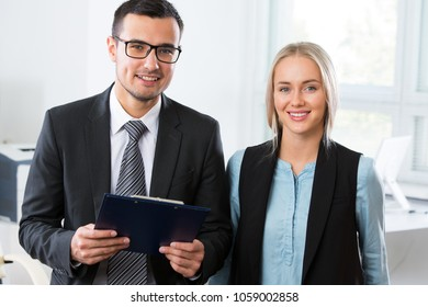 Young business people in an office