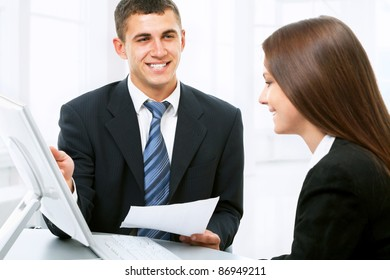 Young business people at office