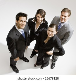 Young business people posing
