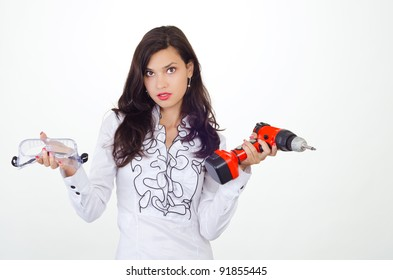 Young business woman getting attitude