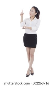 Young business woman standing,portrait