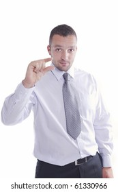 Young businessman gesture