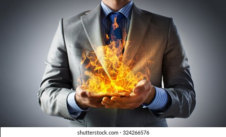 Holding Fire Images, Stock Photos & Vectors | Shutterstock