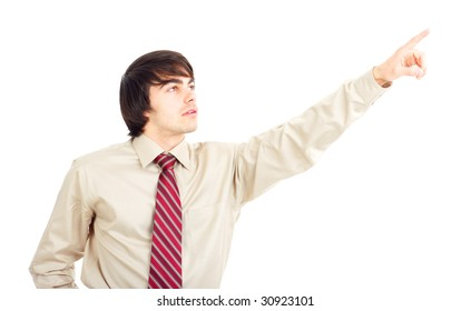 A young  businessman. Isolated over  white background