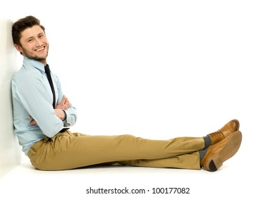 Young businessman sitting