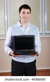 The young businessman smile at office