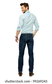 Young businessman standing