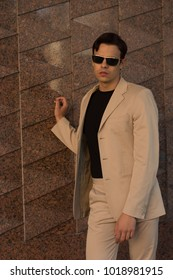 Young businessman at the street