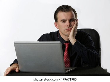 Young businessman stressful in the office