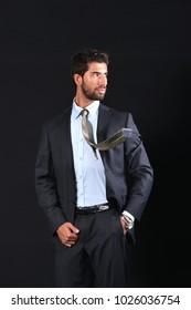 young businessman wear suit