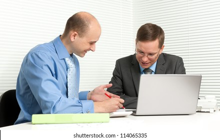 young businessmen having a business meeting in office