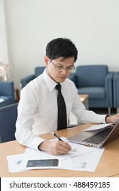 Young businesspeople are working in office,bright room,sunny day,bright tone