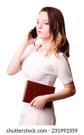 Young businesswoman using cellphone