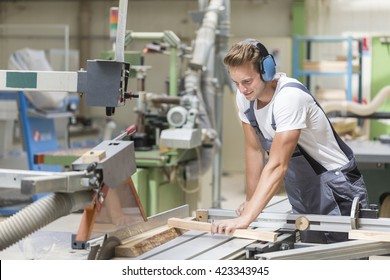 young carpenter working