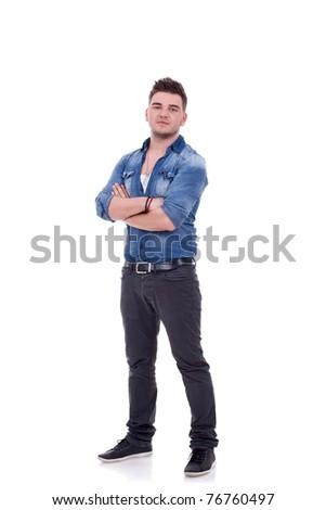 ade87a8e4ec Young Casual Man Full Body White Stock Photo (Edit Now) 76760497 ...