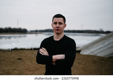 Young Caucasian male of Slavic appearancer