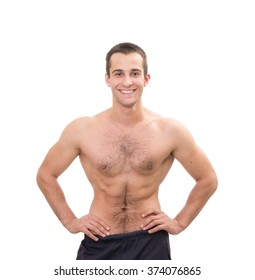 Young caucasian man athlete posing and smiling