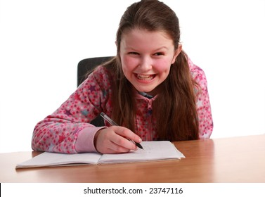 Young Child doing Homework