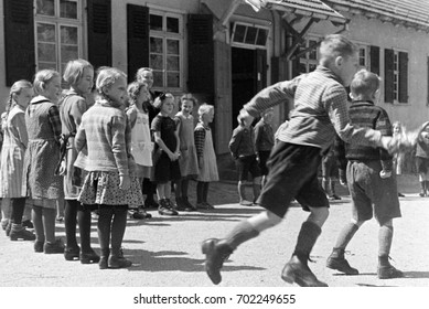 Young children playing in school yard