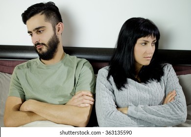 Young couple breaking up
