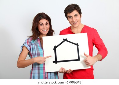 Young couple buying new house