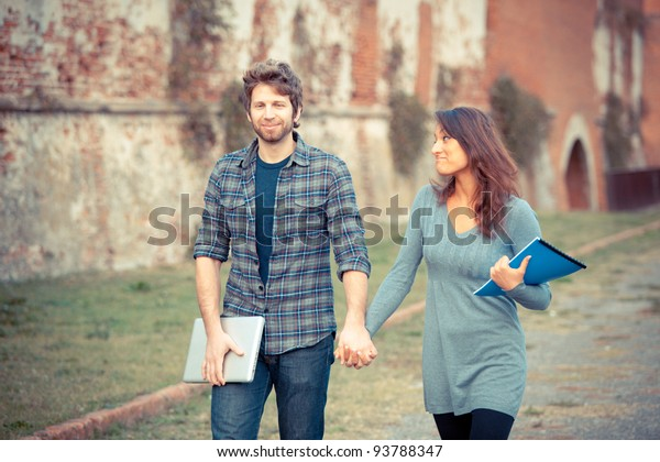 Young Couple at College