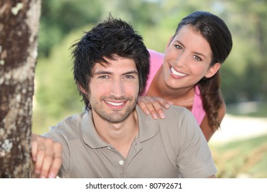 Young couple in the countryside