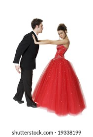 Young couple in a dance routine.
